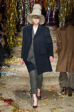 Gwendoline Christie at Vivienne Westwood fall 2015.