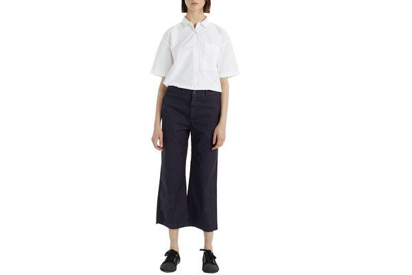 La Garçonne x Save Khaki Crop Chino Pant