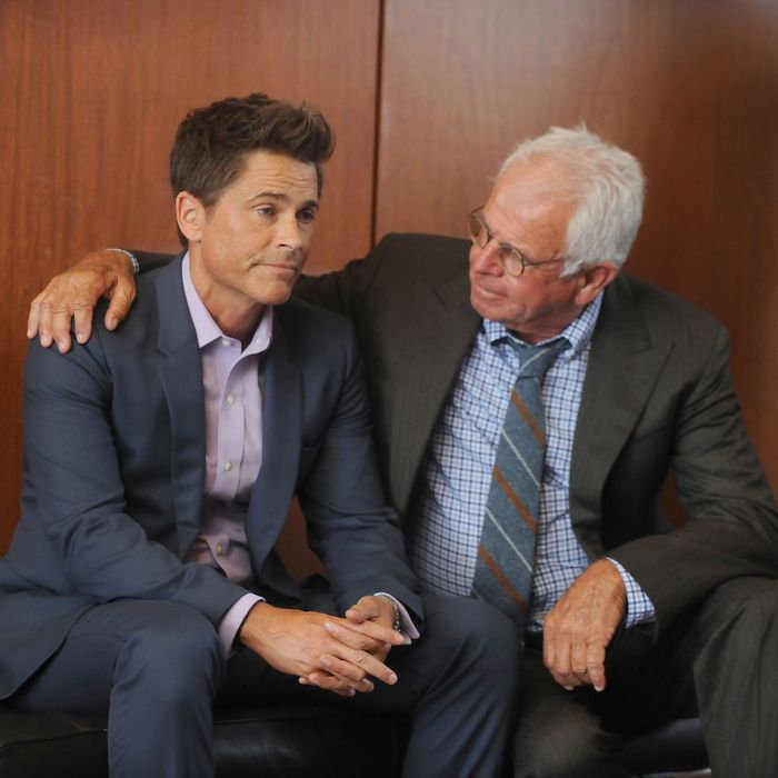 THE GRINDER: L-R: Rob Lowe and William Devane in the
