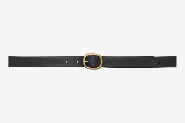 Maximum Henry Black-and-Gold Slim Oval Belt