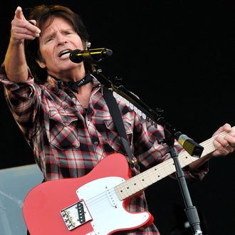 John Fogerty performs live on stage during the second day of Hard Rock Calling at Hyde Park on July 14, 2012 in London, England.