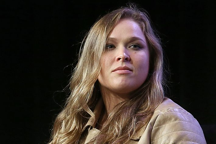 Ronda Rousey speaks during a South by Southwest Sports panel at the Austin Convention Center on March 14, 2015, in Austin, Texas.