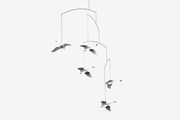 Flensted Mobiles Scandinavian Swan Hanging Mobile