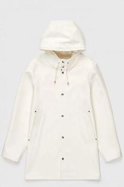 Stockholm white unisex raincoat