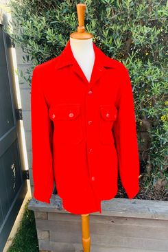 Vintage Red Wool Uniform Jacket