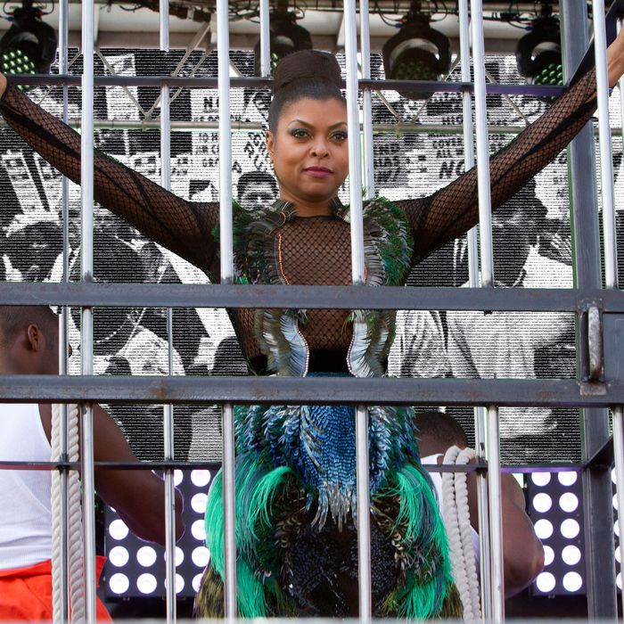 "EMPIRE: Taraji P. Henson as Cookie Lyon in the ""The Devils Are Here"" Season Two premiere episode of EMPIRE airing Wednesday, Sept. 23 (9:00-10:00 PM ET/PT) on FOX. ©2015 Fox Broadcasting Co. Cr: Chuck Hodes/FOX."