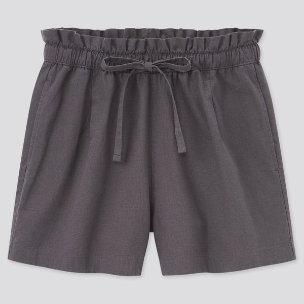 Uniqlo Women Cotton-Linen Relaxed Shorts