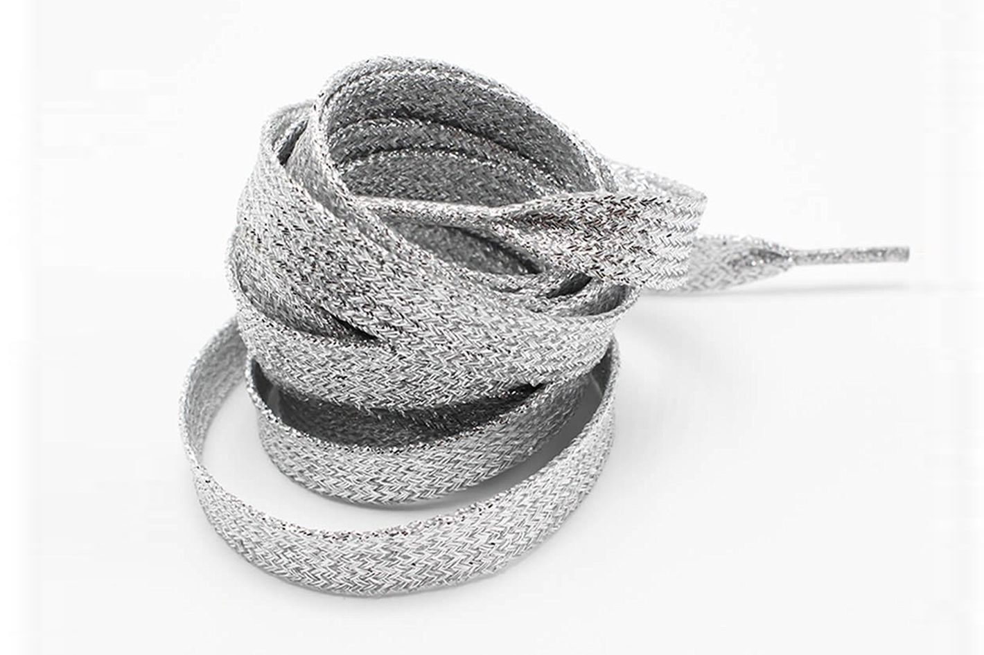 TopTie Metallic Lurex Flat Shoelaces