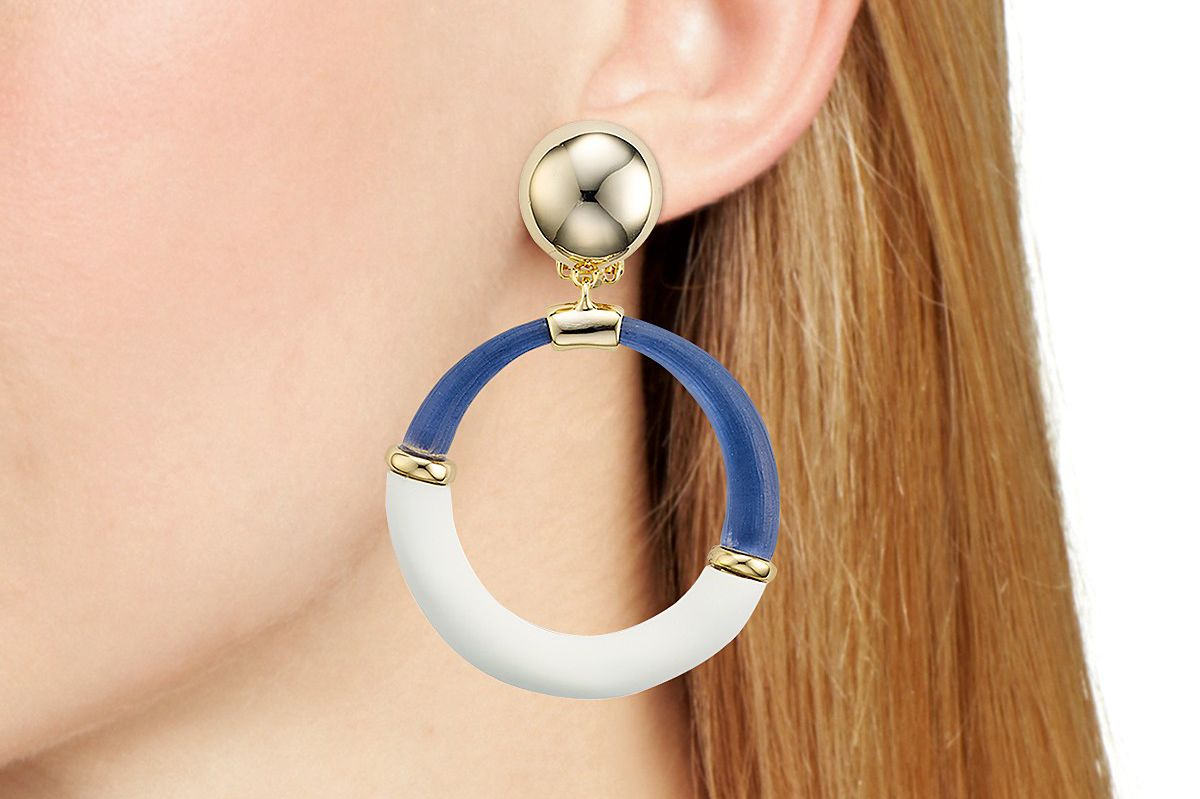 Alexis Bittar Two-Tone Hoop Clip-On Earrings