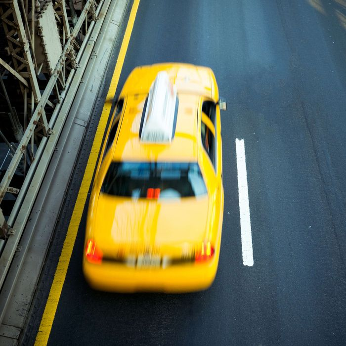 Cab Yellow Taxi New York City Traffic