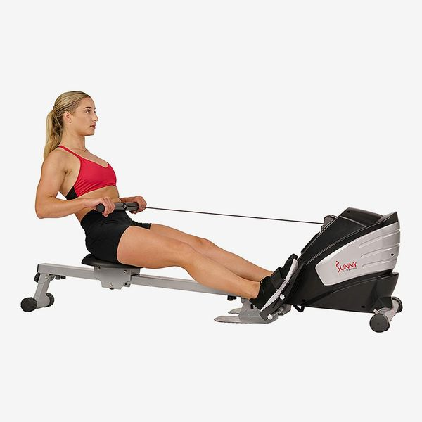 Sunny Health & Fitness Dual Function Magnetic Rowing Machine Rower w/LCD Monitor