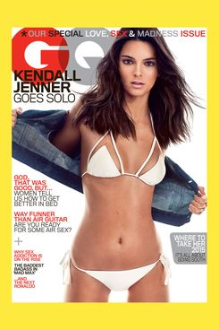 Kendall Jenner on the cover of <em>GQ</em>.