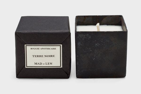 Mad et Len Mini Square Candle, Terre Noire