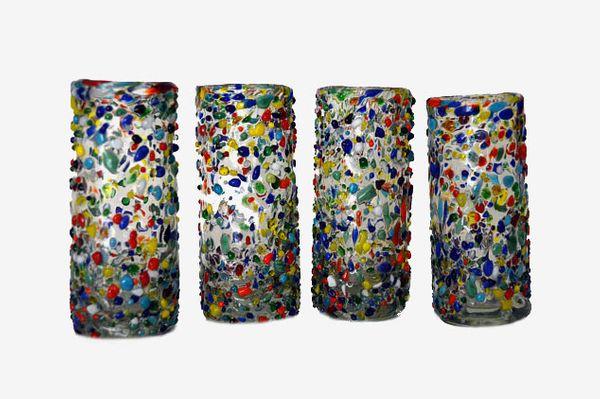 Set of 4 Handblown Shot Glasses