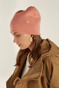 Acne Studios Pansy S Face Wool Beanie Hat