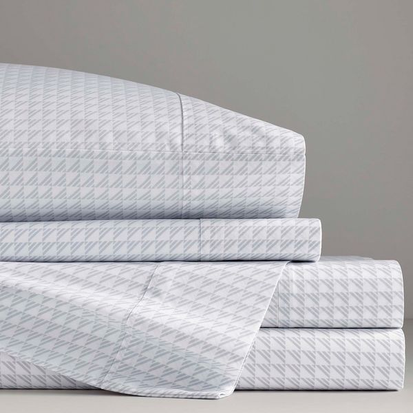 Jonathan Adler matteo grey 4-piece sheet set full, easy care
