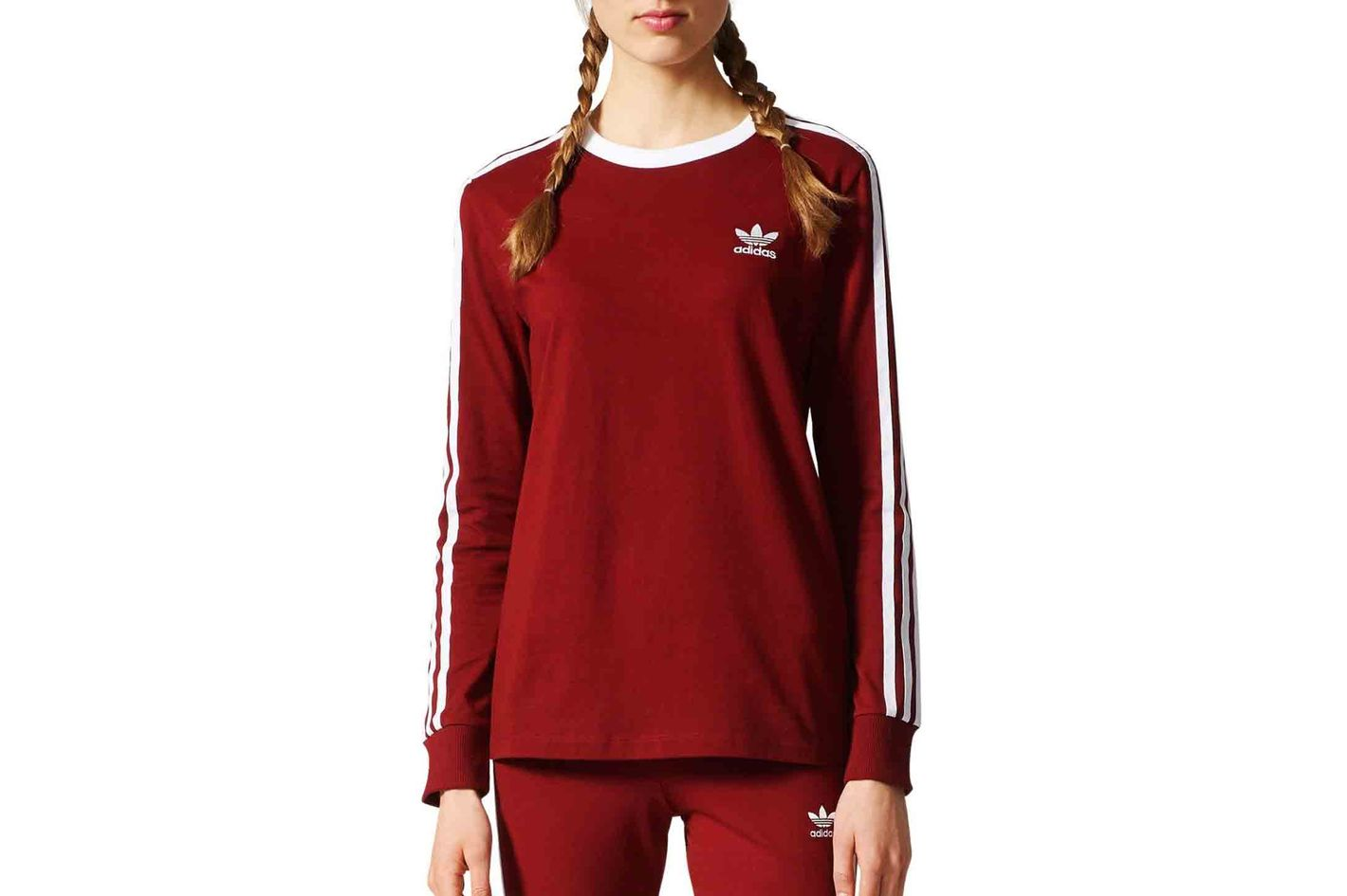 Adidas Three Stripes Long-Sleeve Tee