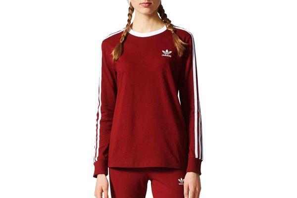 Adidas Three Stripes Long-Sleeve Tee