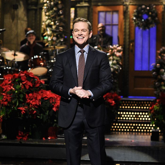 Matt Damon on Saturday Night Live.
