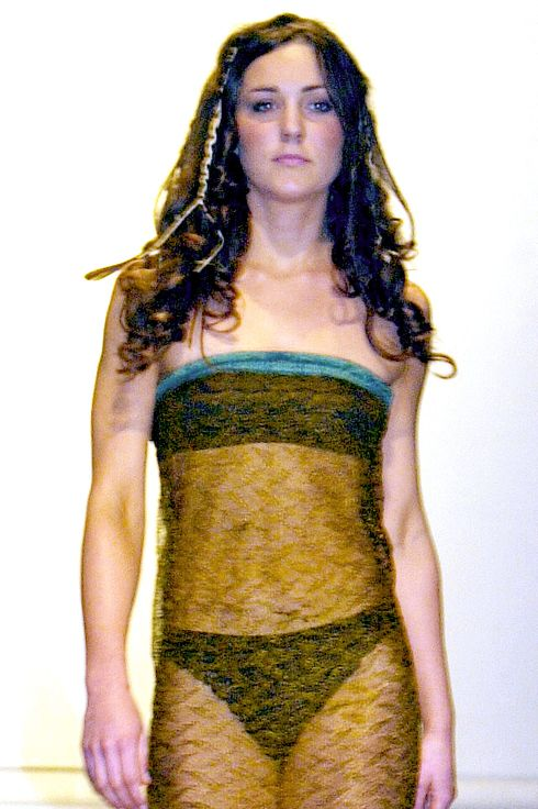 The See Through Charity Fashion Show Dress That Made