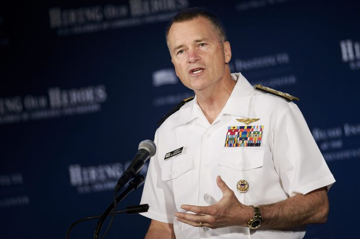 Retired Joint Chiefs of Staff Vice Chairman Adm. James Winnefeld Jr.