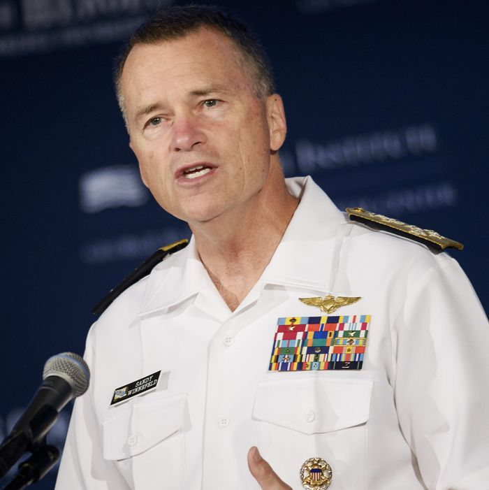 Retired Joint Chiefs of Staff Vice Chairman Adm. James Winnefeld Jr.