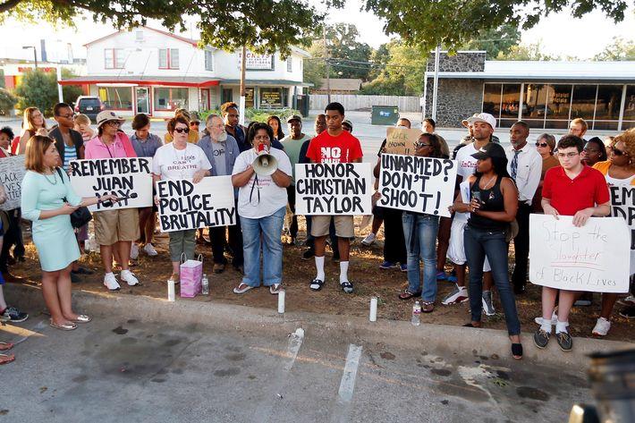 Christian Taylor demonstration in Arlington, Texas
