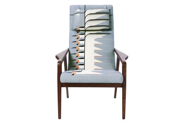 """""""Contour Mid-Century"""" chair in Charley Harper print"""