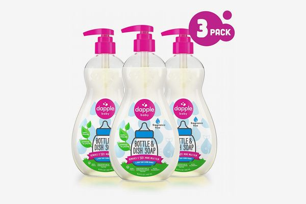 Dapple Baby Bottle and Dish Soap, 16.9 Ounces (3-Pack)