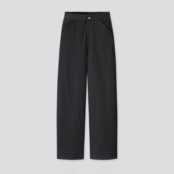 Uniqlo U Women Wide-Fit Curved Twill Jersey Pants