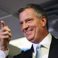 New York City Mayor-Elect Bill de Blasio holds a press conference to announce members of his senior leadership team on December 4, 2013 in New York City. The de Blasio administration is due to take office on January 1.
