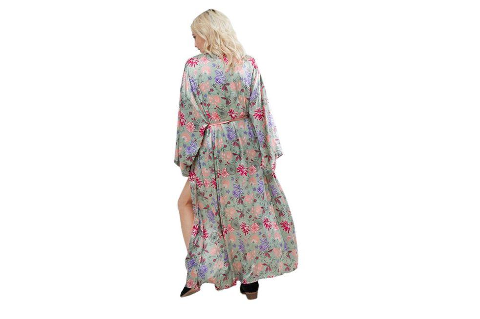 Glamorous Maxi Botanical Robe