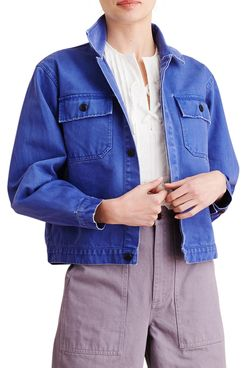 Alex Mill Washed Denim Crop Work Jacket