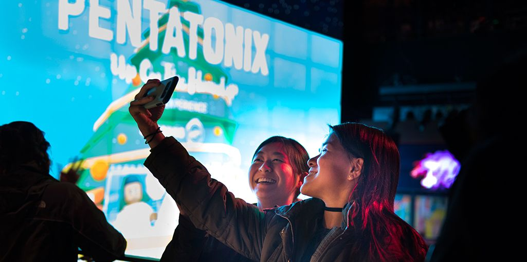 EXCITED EVENT-GOERS TOOK SELFIES BEFORE THE Q&A.