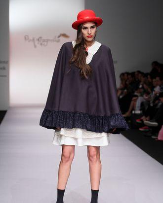 A model at Mexico Fashion Week.