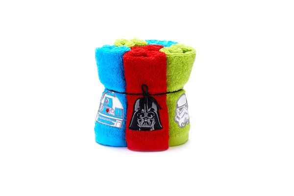 Six Piece Star Wars Soft Terry Cotton Bathroom Washcloths 6-set