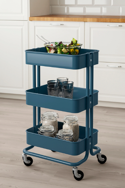 Ikea Råskog Dark Blue Utility Cart