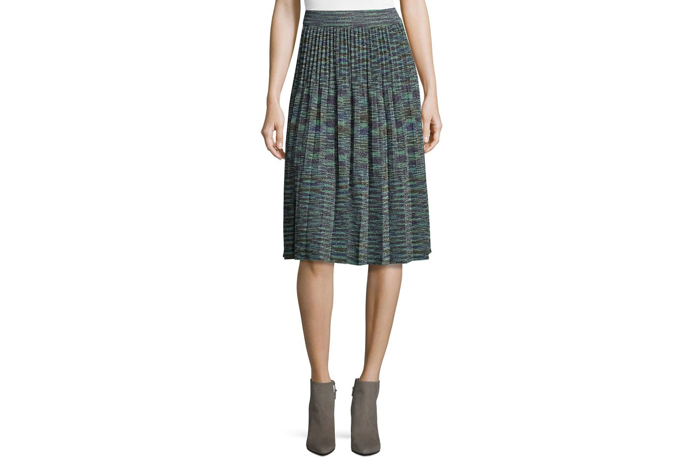 M Missoni Space-Dyed Lurex Pleated Skirt