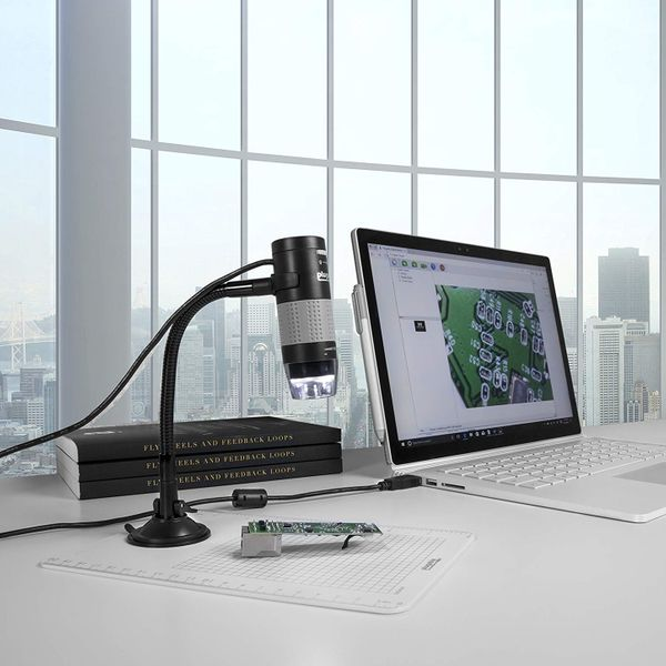 Plugable USB 2.0 Digital Microscope With Flexible Arm Observation Stand