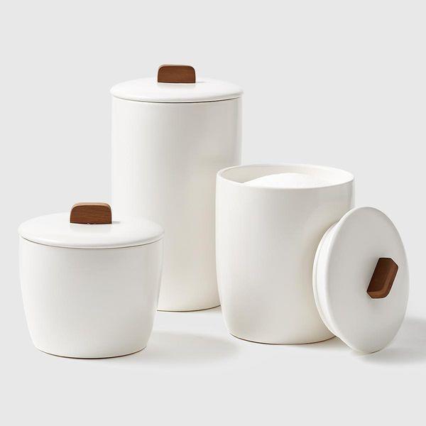Marie Kondo Cloud White Ceramic Bulk Canisters