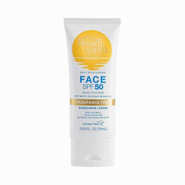 Bondi Sands Fragrance-Free Daily Sunscreen Face Lotion SPF 50
