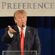 GOP Presidential Front Runner Donald Trump Address Republican Conference In Nashville