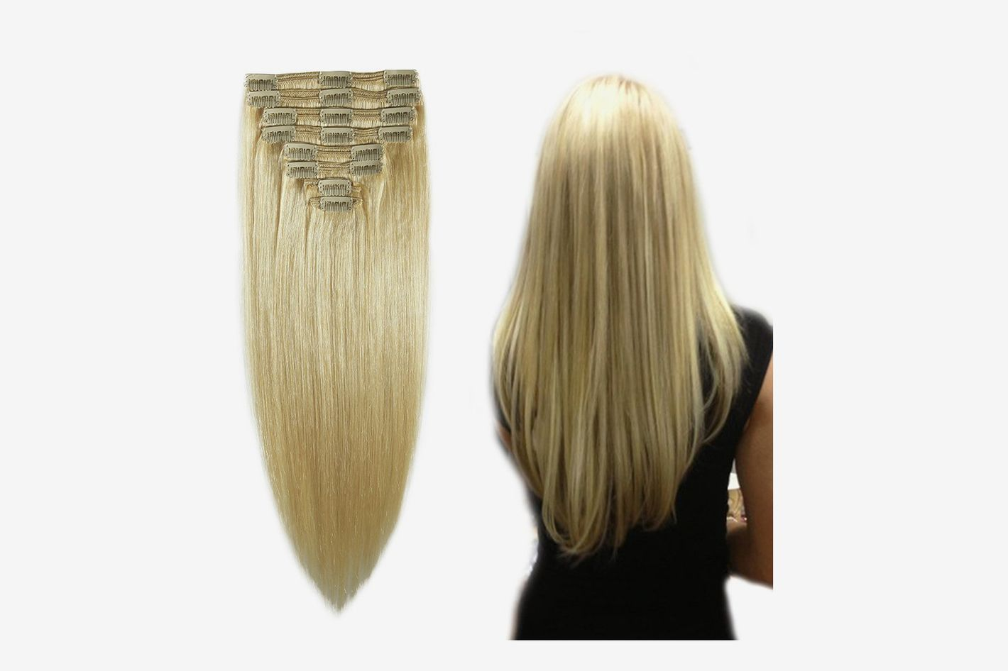 "MY-LADY 100% Remy Human Hair Clip in Extensions 12"", 110g, 8pcs"