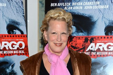 "Bette Midler attends the ""Argo"" screening at the Time Warner Screening Room on October 9, 2012 in New York City."