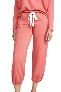 Eberjey Winter Heather Cropped Pants, Mineral Red