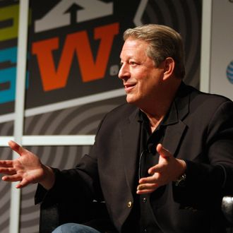 Former Vice President of the United States Al Gore speaks onstage at Sean Parker Presentation during the 2012 SXSW Music, Film + Interactive Festival at Austin Convention Center on March 12, 2012 in Austin, Texas.