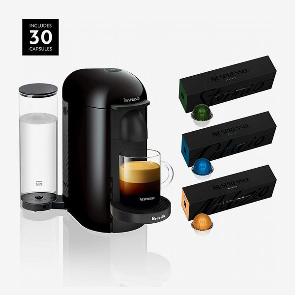 Breville Nespresso VertuoPlus Coffee Machine with Aeroccino