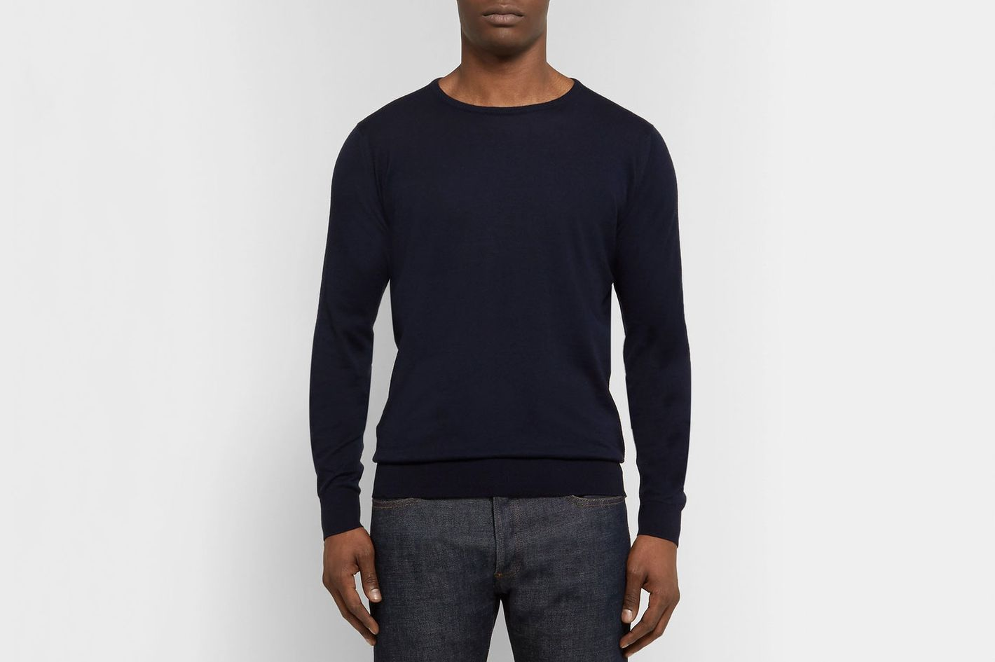 24a02904cf231d John Smedley Theon Slim-Fit Sea Island Cotton And Cashmere-Blend Sweater