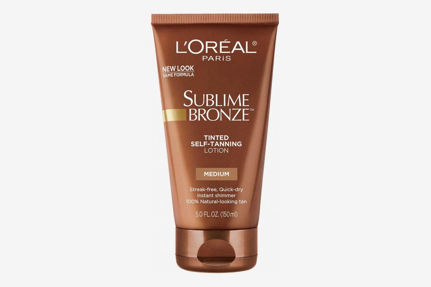 L'Oreal Paris Sublime Bronze Tinted Self-Tanning Lotion Medium Natural Tan