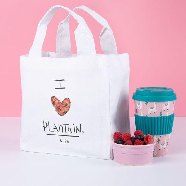 'I Love Plaintain' Lunch Bag